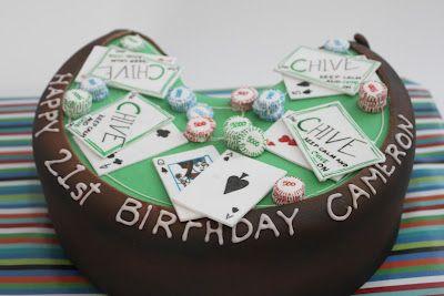 21 Blackjack Birthday Cake