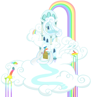 Rainbow Dash S House By Stabzor My Little Pony My Little Pony