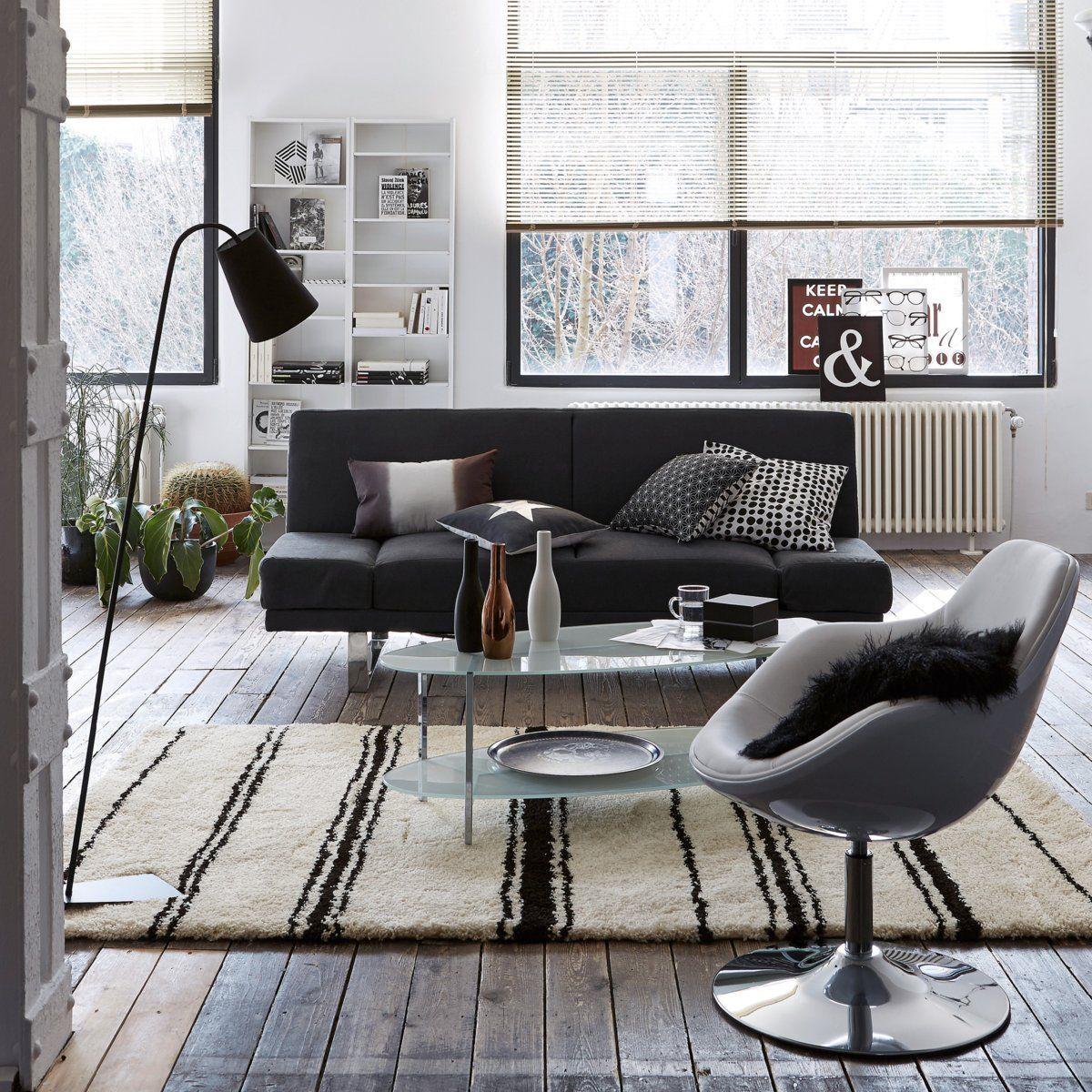 Table basse ovale double plateaux, verre trempé sa La Redoute Interieurs en soldes   La Redoute