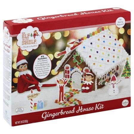 Food Gingerbread House Kits Elf On The Shelf Gingerbread