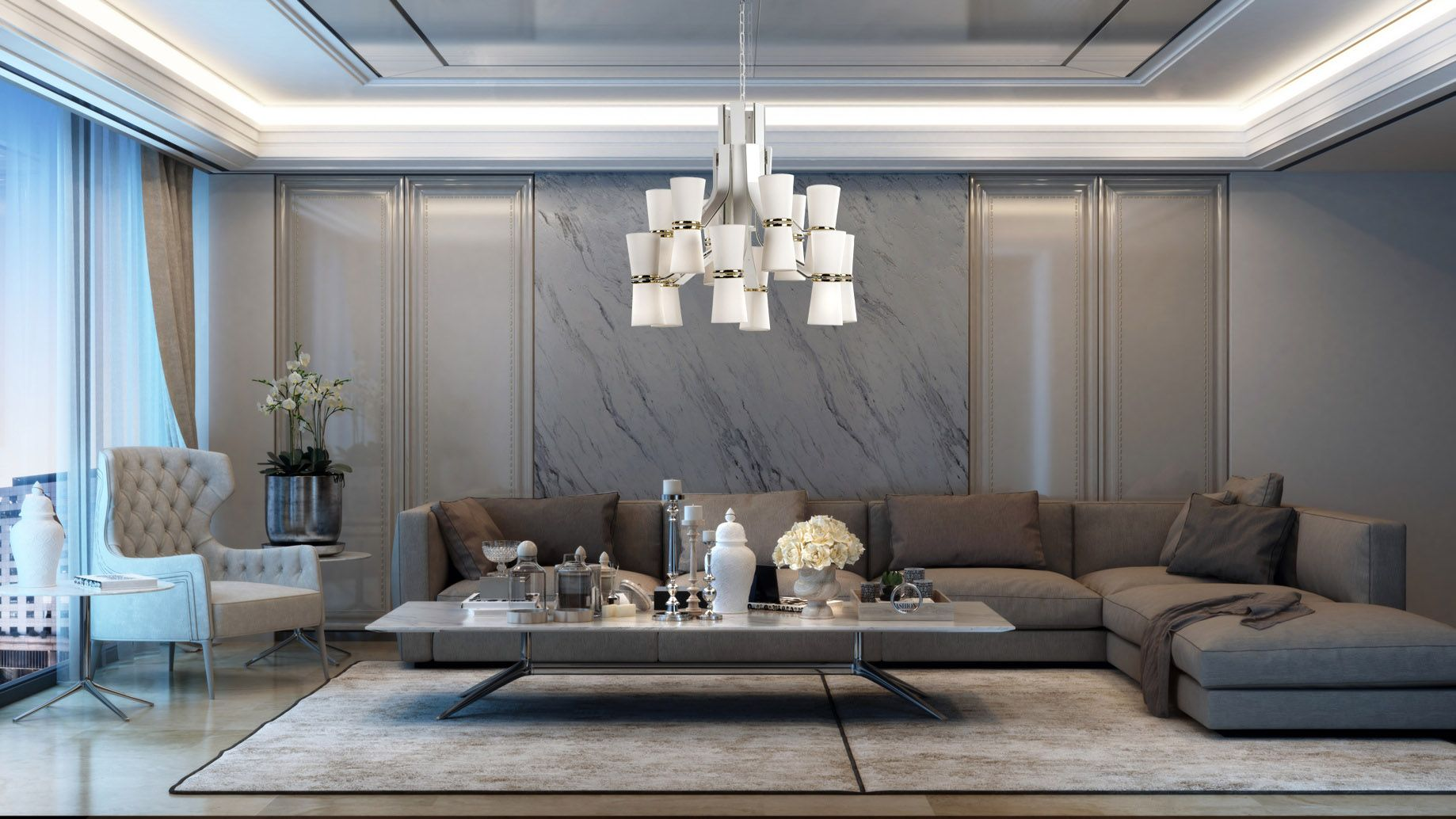 Muse chandelier designed by andrea bonini for isaaclight
