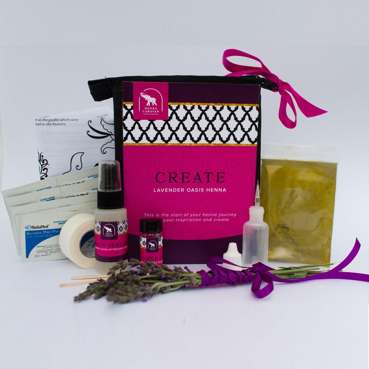 Create henna kit lavender oasis henna kit henna unique