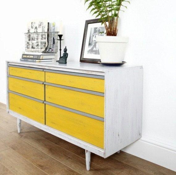 Yellow mid century teak sideboard | Home Decor | Pinterest ...