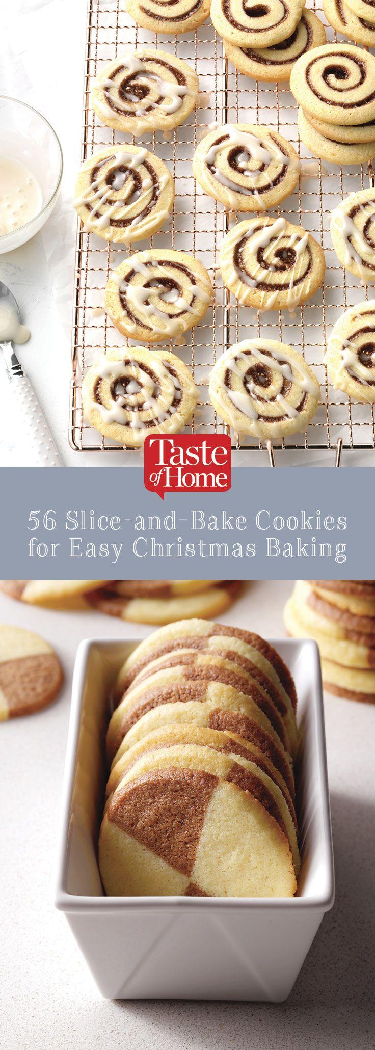 56 Slice-n-Bake Cookies For Easy Christmas Baking