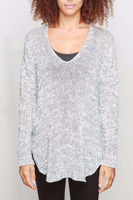 Shirt Tail Cotton V-Neck Tunic