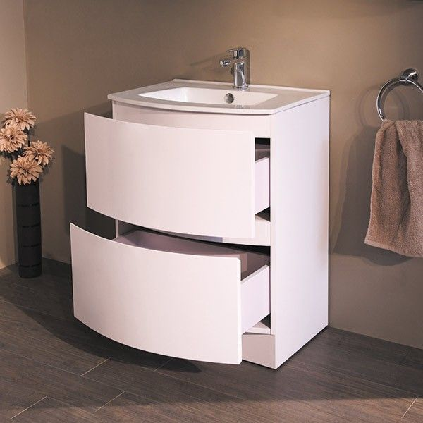 Voss 620 Floor Mounted Vanity Drawer Unit And Basin