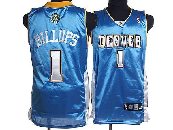 Nuggets #1 Chauncey Billups Embroidered Baby Blue NBA Jersey! Only $17.50USD