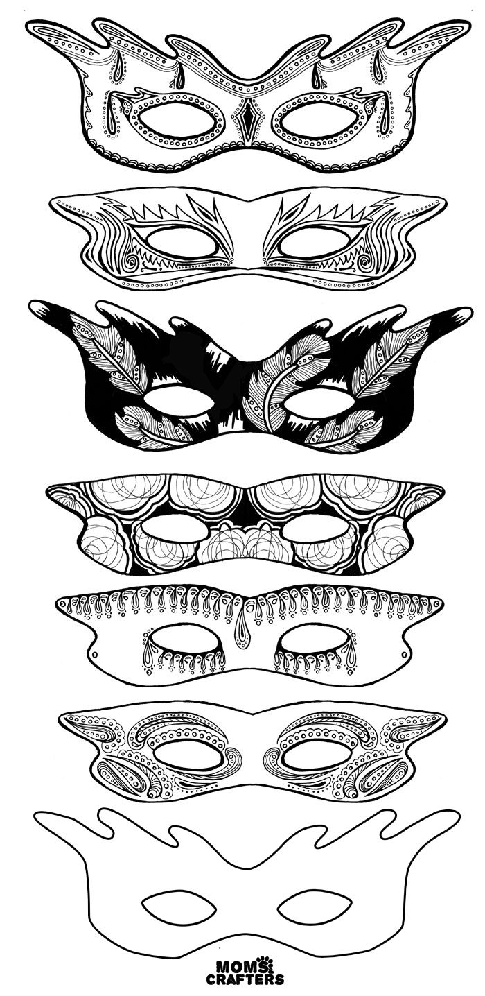 These color-in masks are beautiful! | Adult coloring, Free ...