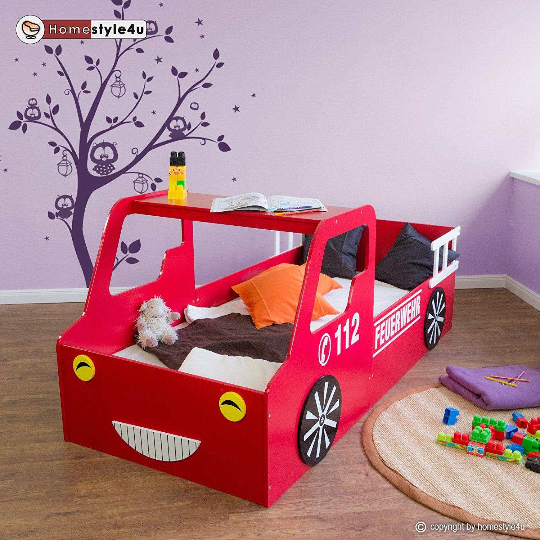 cooles feuerwehrbett f r das kinderzimmer eines kleinen feuerwehrmannes autobett im feuerwehr. Black Bedroom Furniture Sets. Home Design Ideas