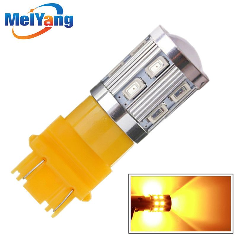 Led Bulbs 3056 3156 3057 3157 P27 7w T20 Cree Led Chips For Car Rear Brake Lights Turn Signal Tail Lamps Yellow Amber Cree Led Led Bulb Car Lights