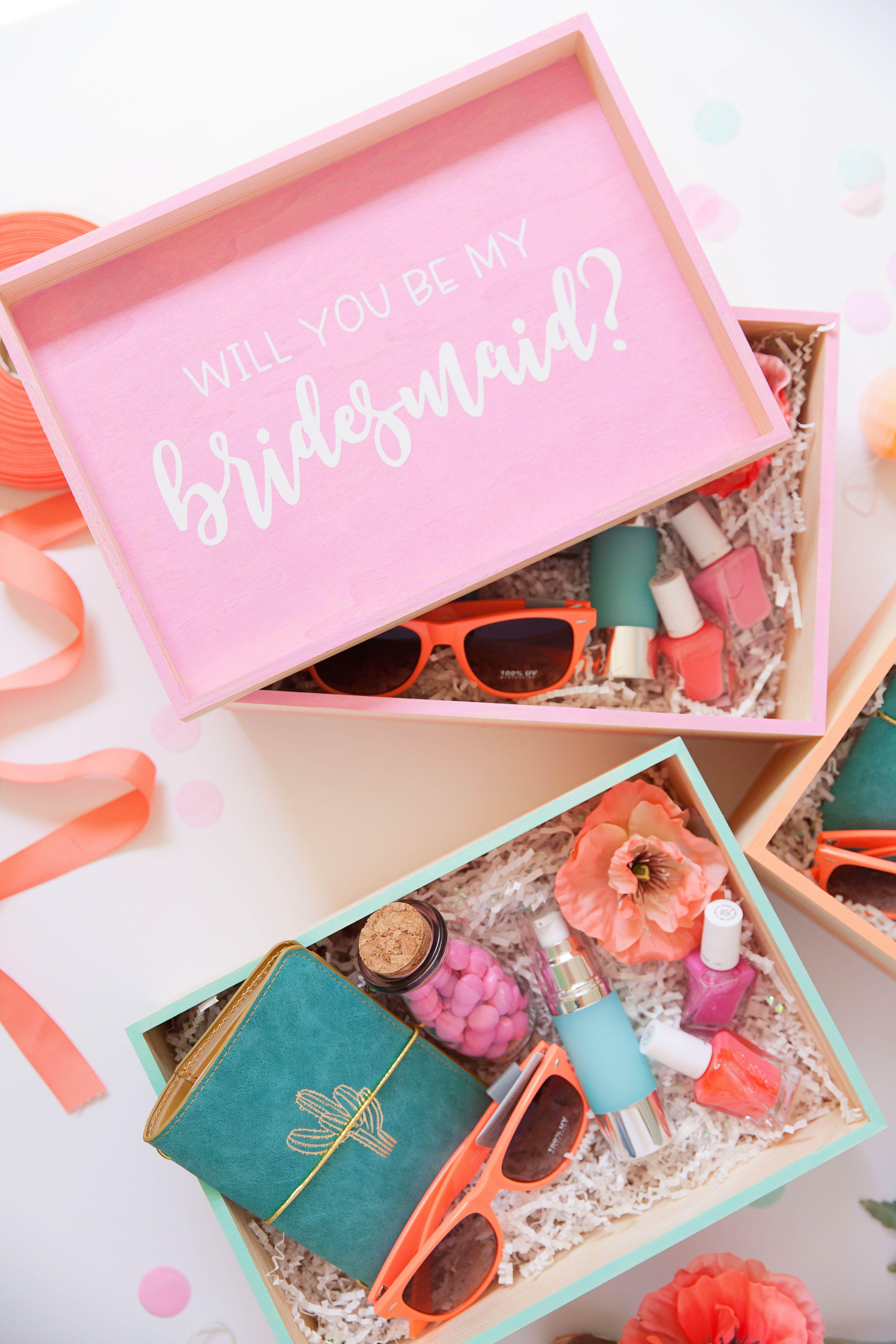 Diy Bridesmaid Gift Boxes Wedding Love Bridesmaid Gift Boxes