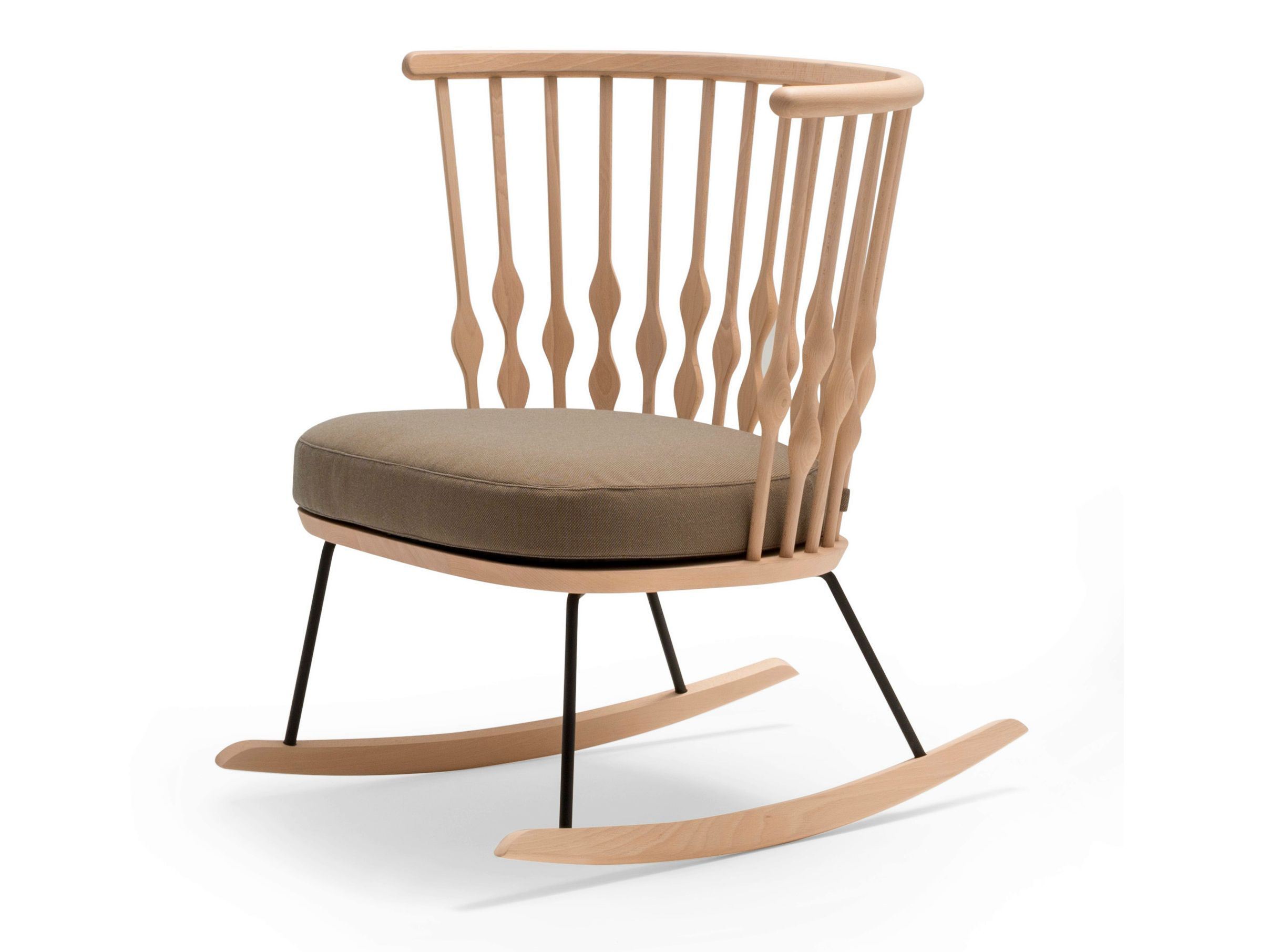 Wooden easy chair designs - Rocking Wooden Easy Chair Nub Collection By Andreu World Design Patricia Urquiola