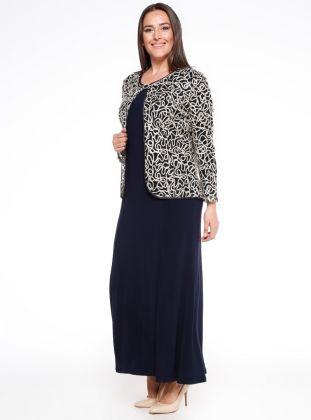 Ceket Elbise Ikili Takim Lacivert Altin Arikan Moda Stilleri Giyim Elbise