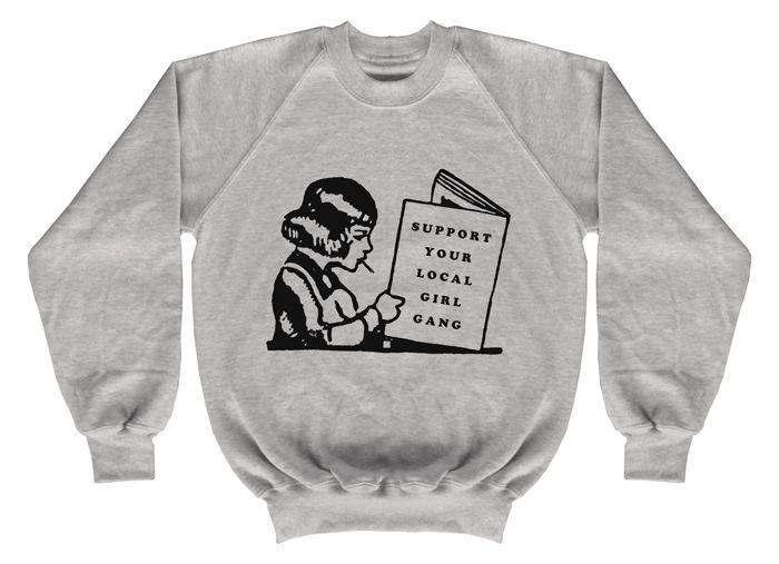 GIRL GANG grey heather sweatshirt