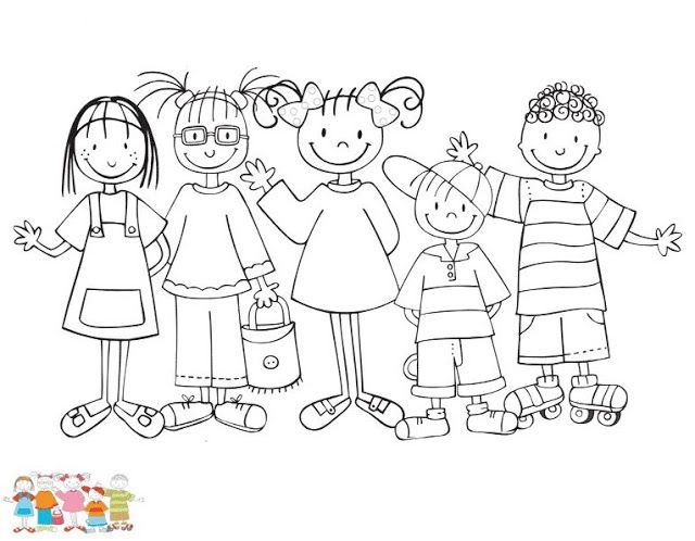Dibujos De Nenas Y Nenes Dibujos Dibujos Para Ninos Ninos