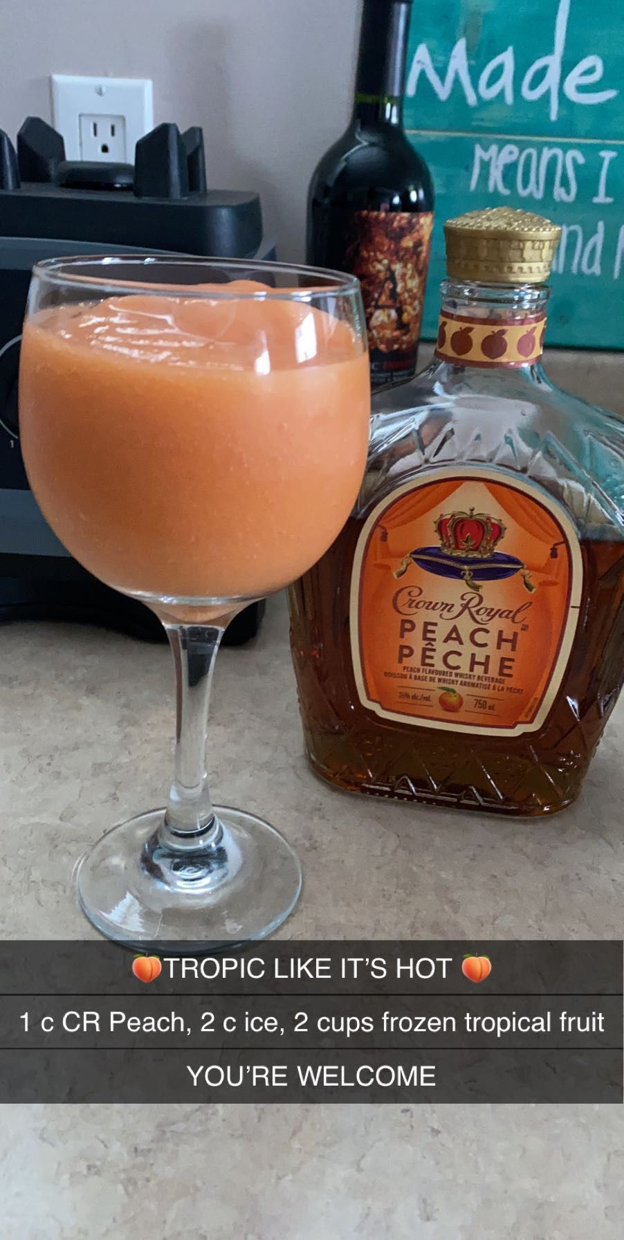 Crown royal peach slushy drink in 2020 peach drinks