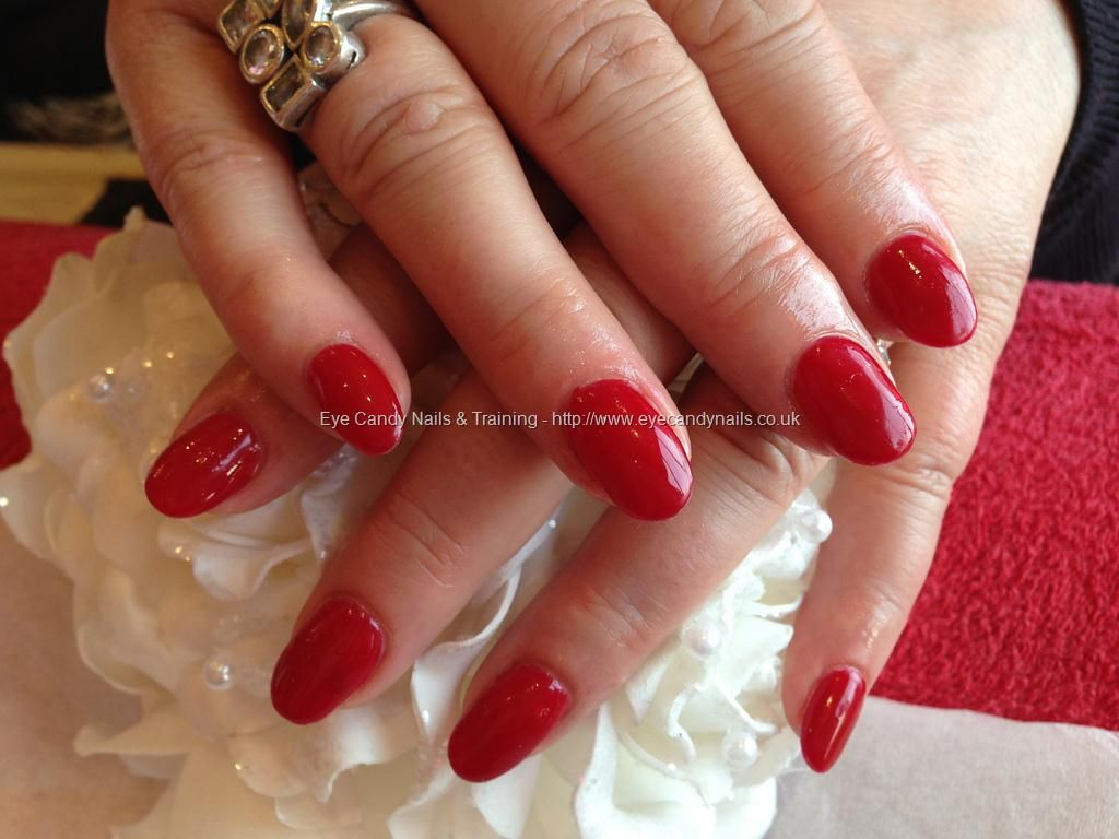 Acrylic nails with gelux cherry gel polish | • n a i l s ...