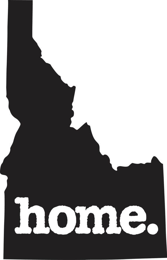 Idaho home decal car or laptop sticker by homestateapparel