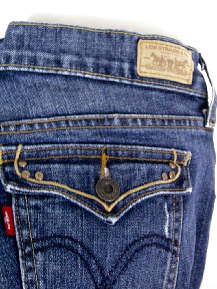 60cfc17c04e Levi s 515 Boot Cut Jeans Stretch Size 4M Women s Button Flap Back Pockets   Levis  BootCut