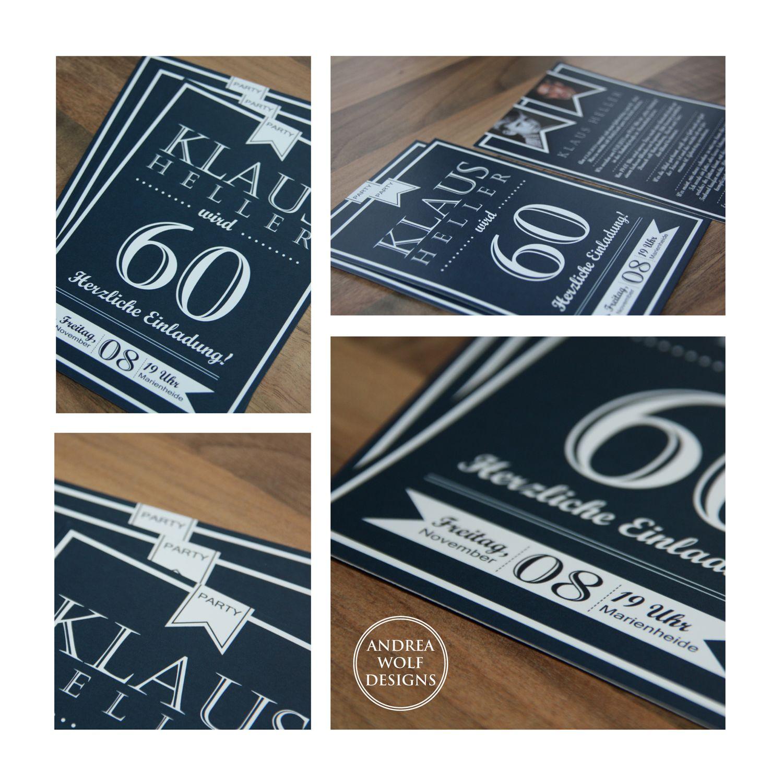 Lovely Einladungskarten Format #11: Eine Schöne Einladung Zum 60. Geburtstag Im Din A6 Format
