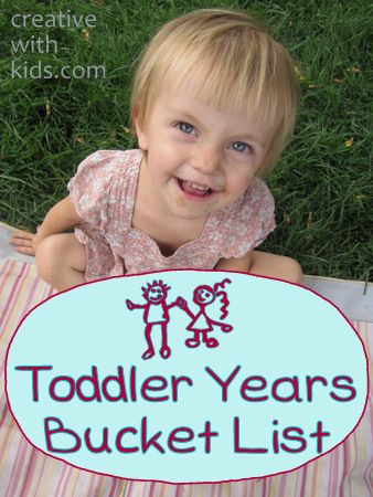 fun things to do while you've got a toddler - before they turn into a Big Kid!