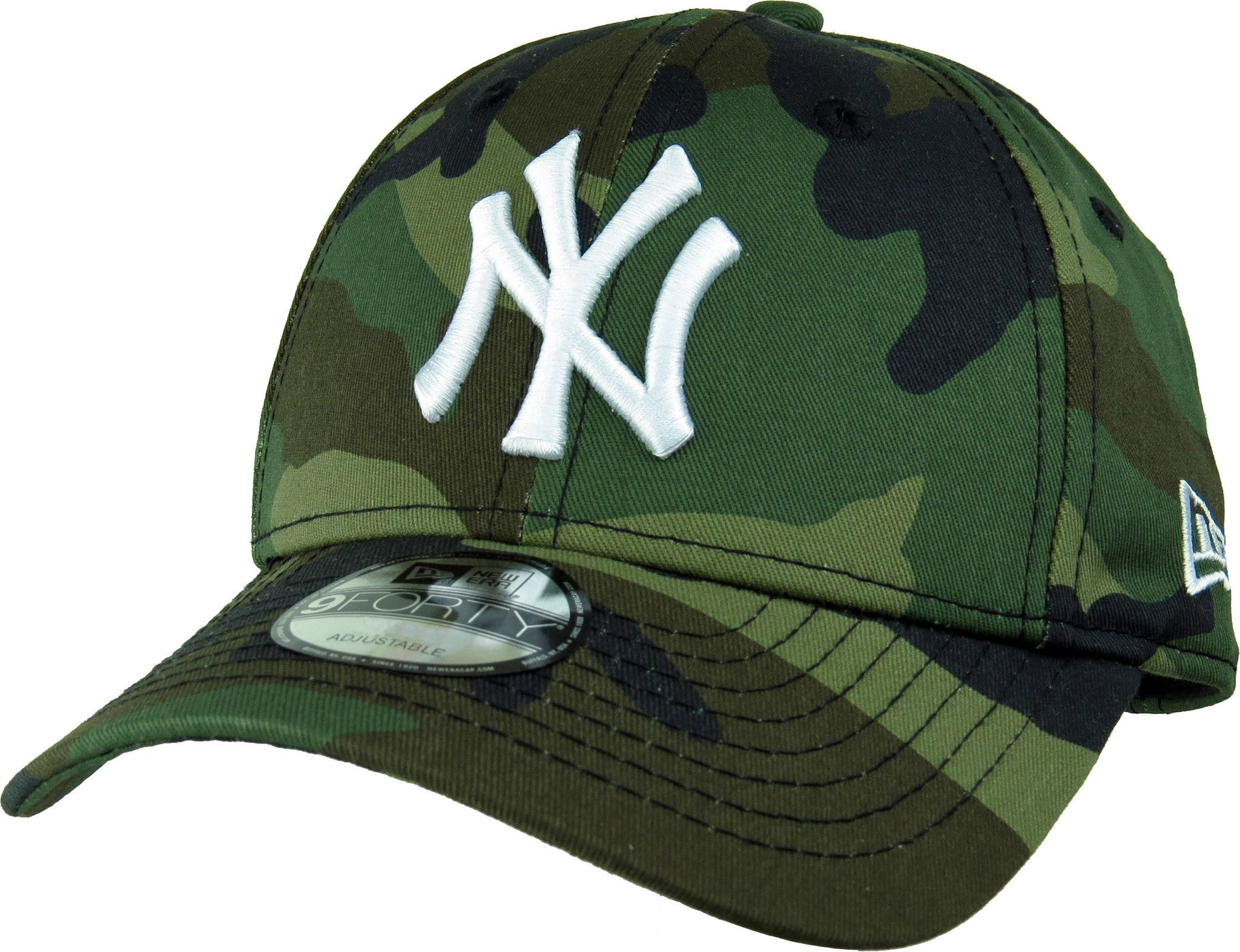 New Era 940 League Essential NY Yankees Baseball Cap Woodland Camo ... 2272ac82cde