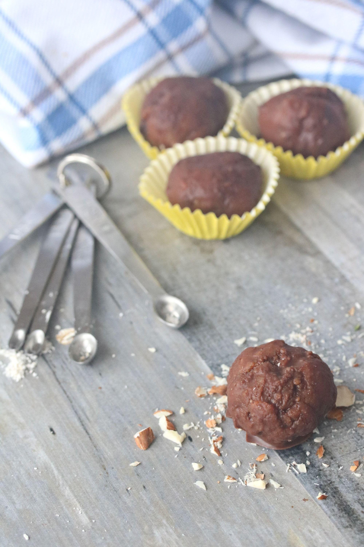 Dairy Free Almond Vanilla Cake Balls Fit As A Mama Bear Recipe Vegan Dessert Recipes Easy Dessert Recipes Snacks