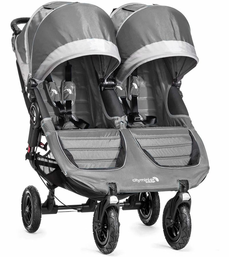 Baby Jogger City Mini GT Double 2016 Steel Gray Carrinho