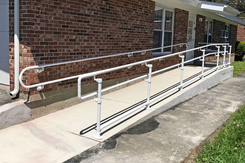 Learn how to build an ADA compliant railing for a ramp walkway ...