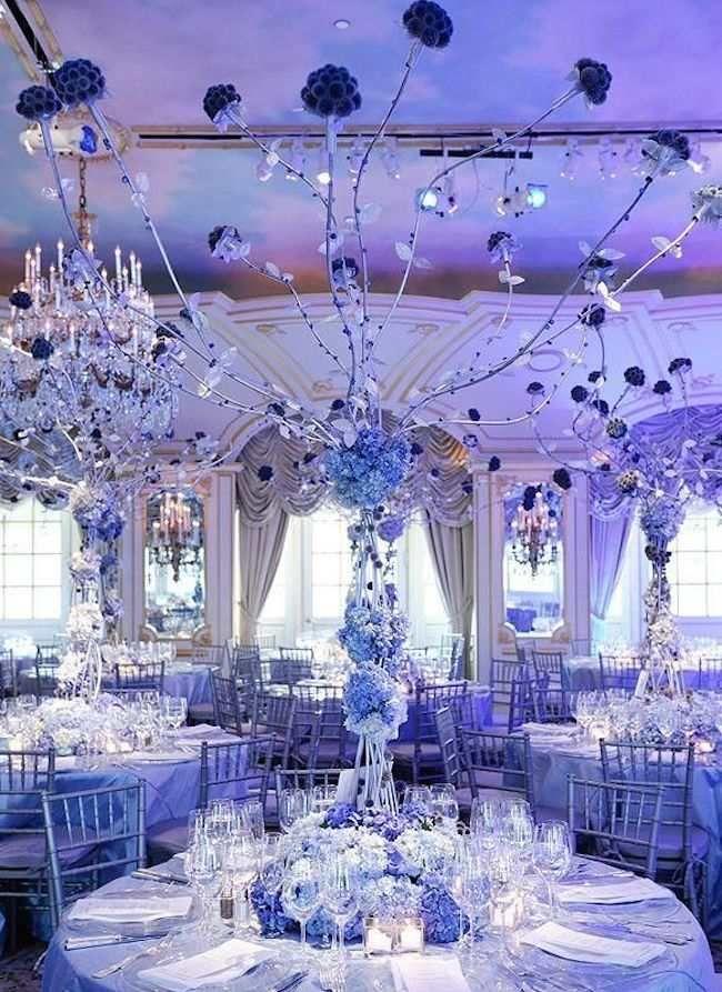 blue wedding decoration ideas. Shades Of Blue Wedding Centerpiece Ideas  wedding