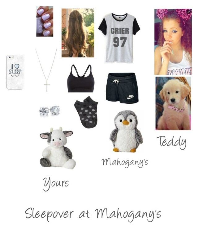 """Sleepover at Mahogany's"" by theflirtmaster ❤ liked on Polyvore featuring beauty, Under Armour, NIKE, Forever 21, Michael Kors, Blue Nile and Casetify"