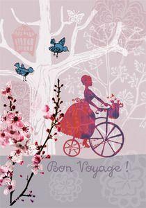 Bon Voyage card - Blueberry Street
