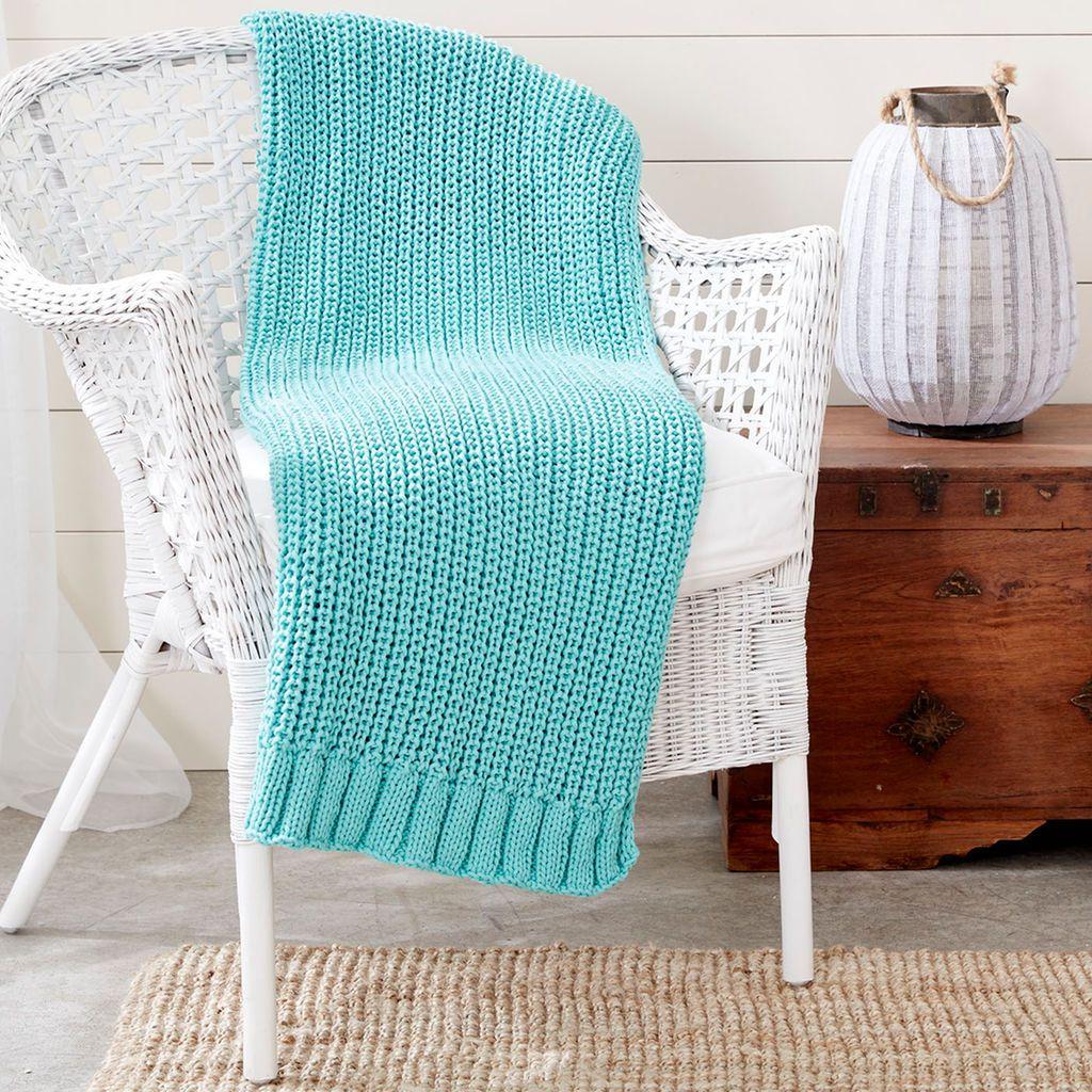 Bernat® Maker Home Dec™ Shaker Knit Rib Blanket   House
