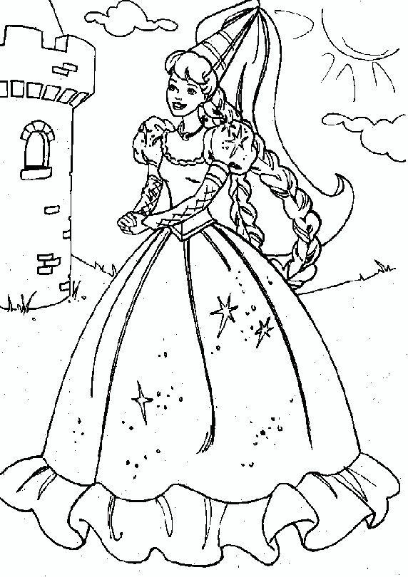 Barbie Rapunzel Princess Coloring Pages Barbie Coloring Pages Disney Princess Coloring Pages