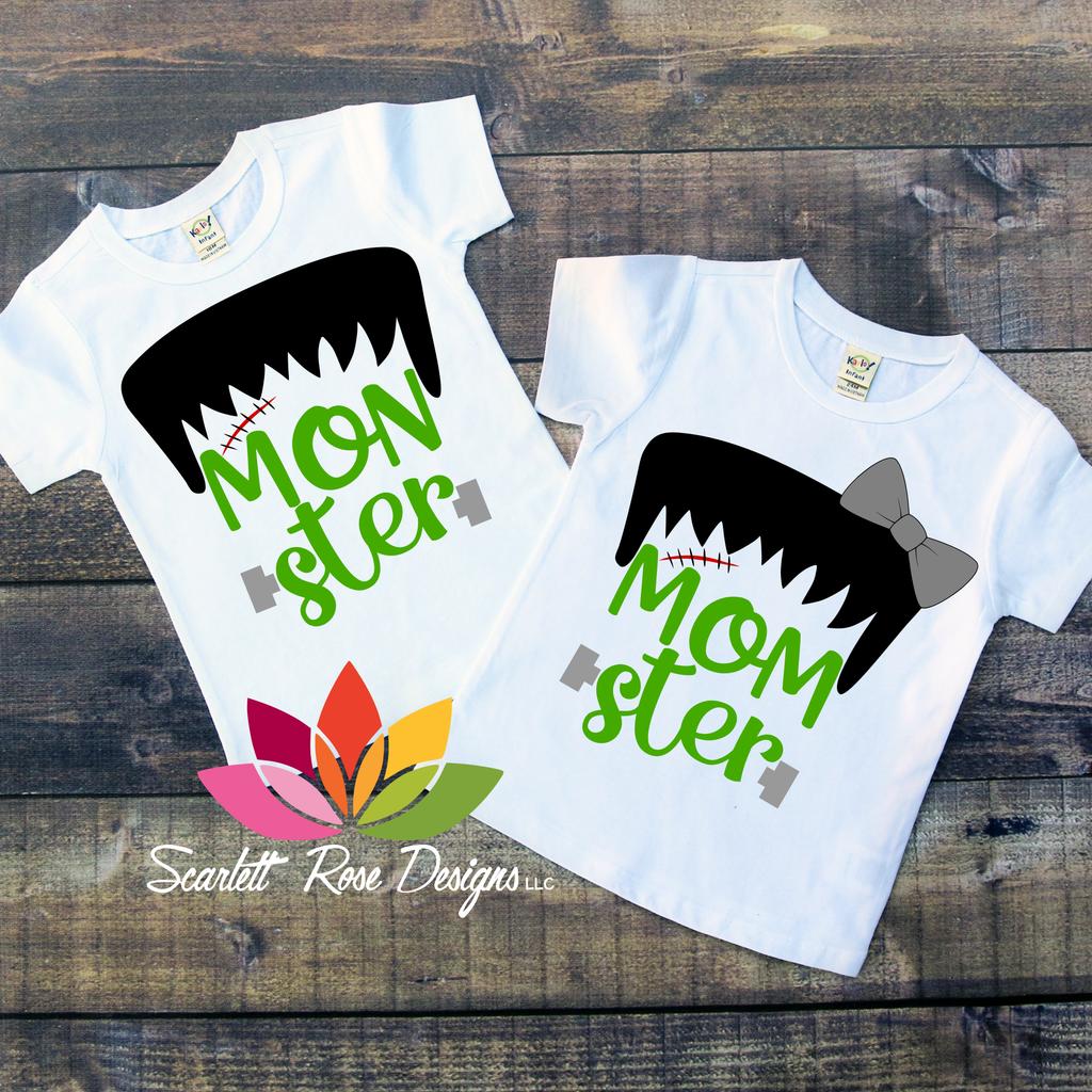 Momster Monster Svg Set Halloween Shirts For Boys Halloween Shirts Kids Cricut Halloween