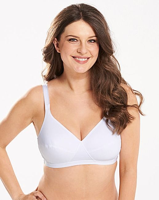 fc259c4e441b9 Playtex 2Pack White Comfort Bras in 2019 | The Basic Bra | Bra, Pure ...