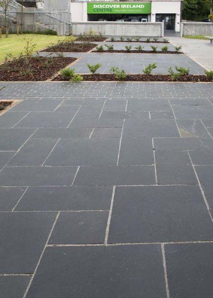 black limestone paving garden pinterest limestone. Black Bedroom Furniture Sets. Home Design Ideas