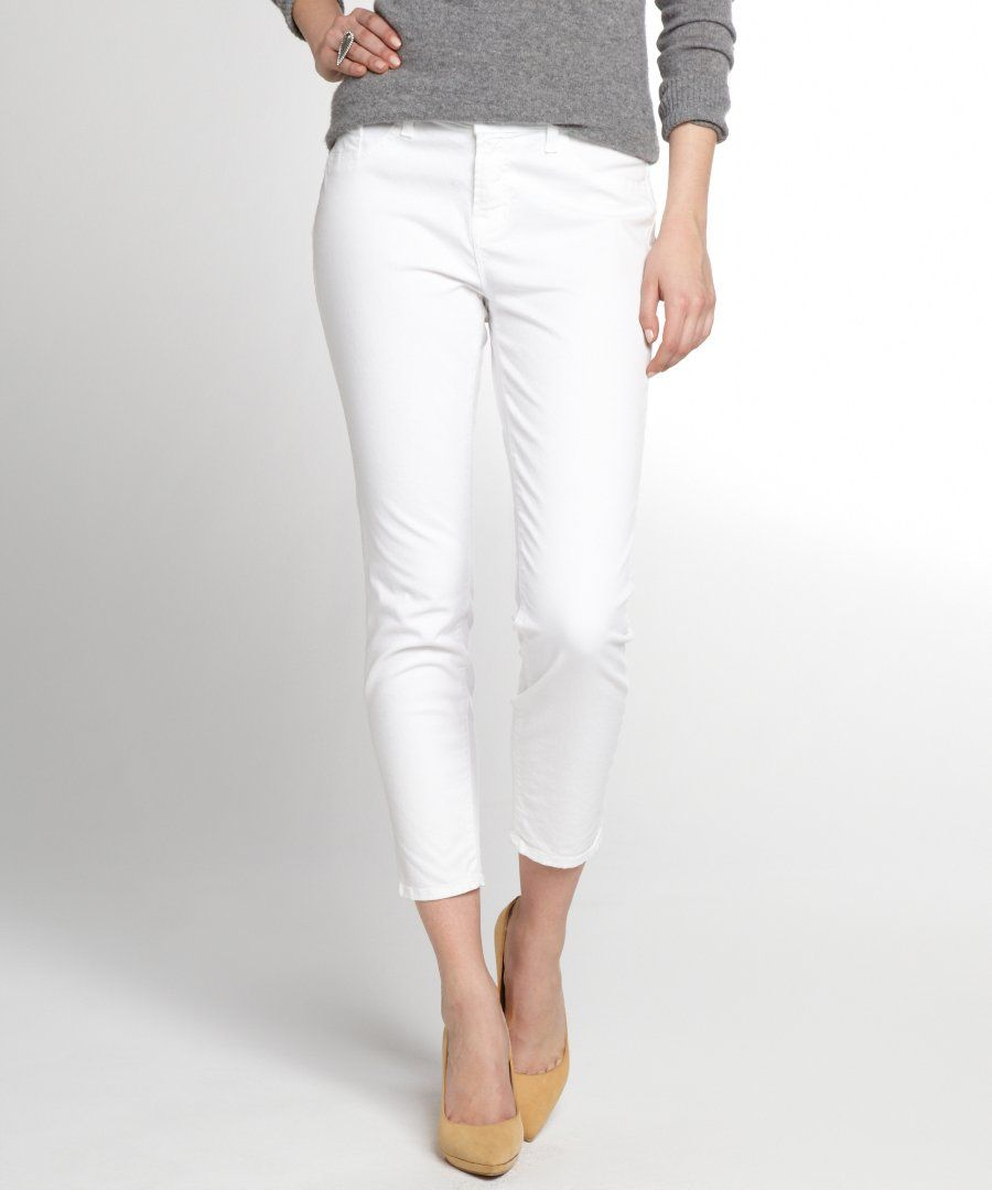 Uniqlo White Skinny Capri Jeans | My Spring and Summer Wardrobe ...