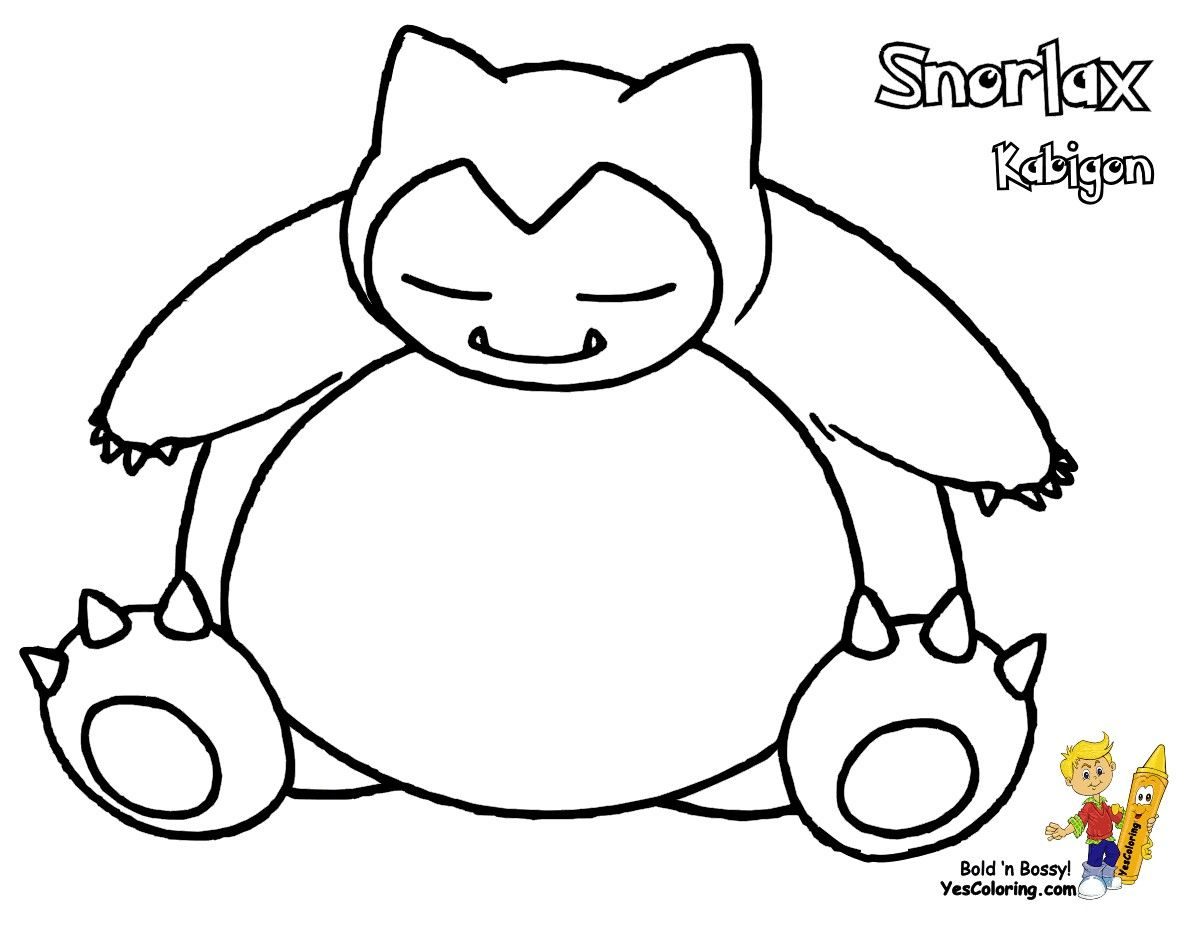 Pin By Leoinia Sifers On Pokemon Coloring Pages Pokemon Coloring Pages Pokemon Snorlax