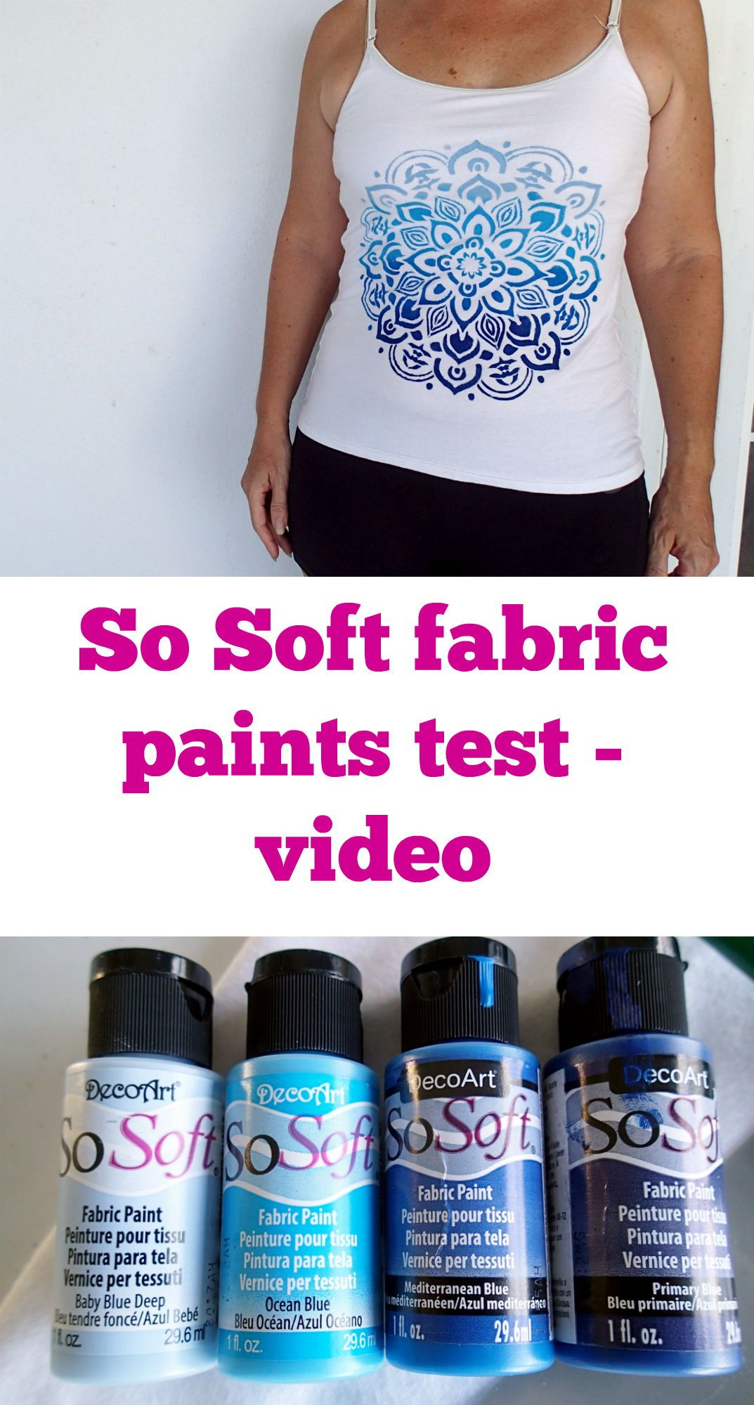 Create Custom Clothing With Fabric Paints And A Stencil Fabrics Paints Have Come A Long Way And Are Now Soft Colorful A Fabric Painting Fabric Paint Stencils