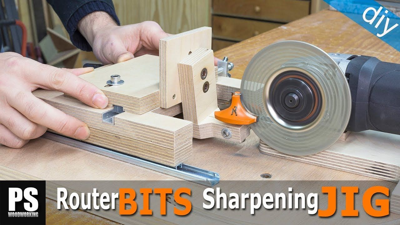 Homemade Router Bits Sharpening Jig Router Bits Router Tools