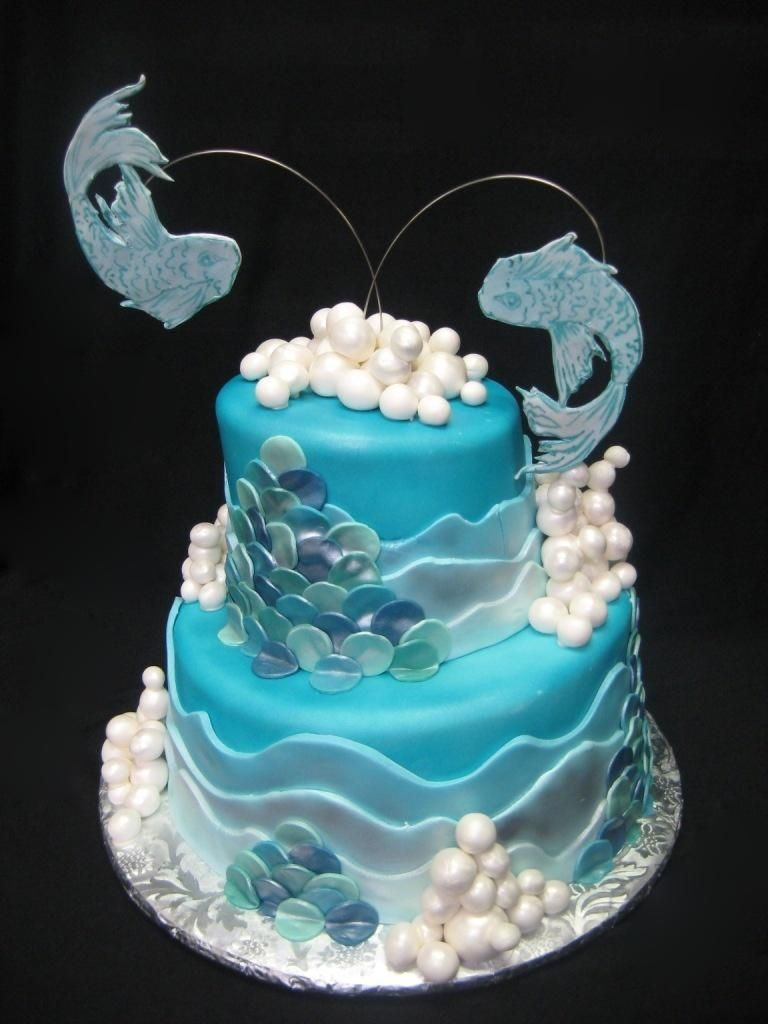 Remarkable Pisces Cake 3 Sisters Chocolate And Bakery Jacksonville Fl Funny Birthday Cards Online Kookostrdamsfinfo