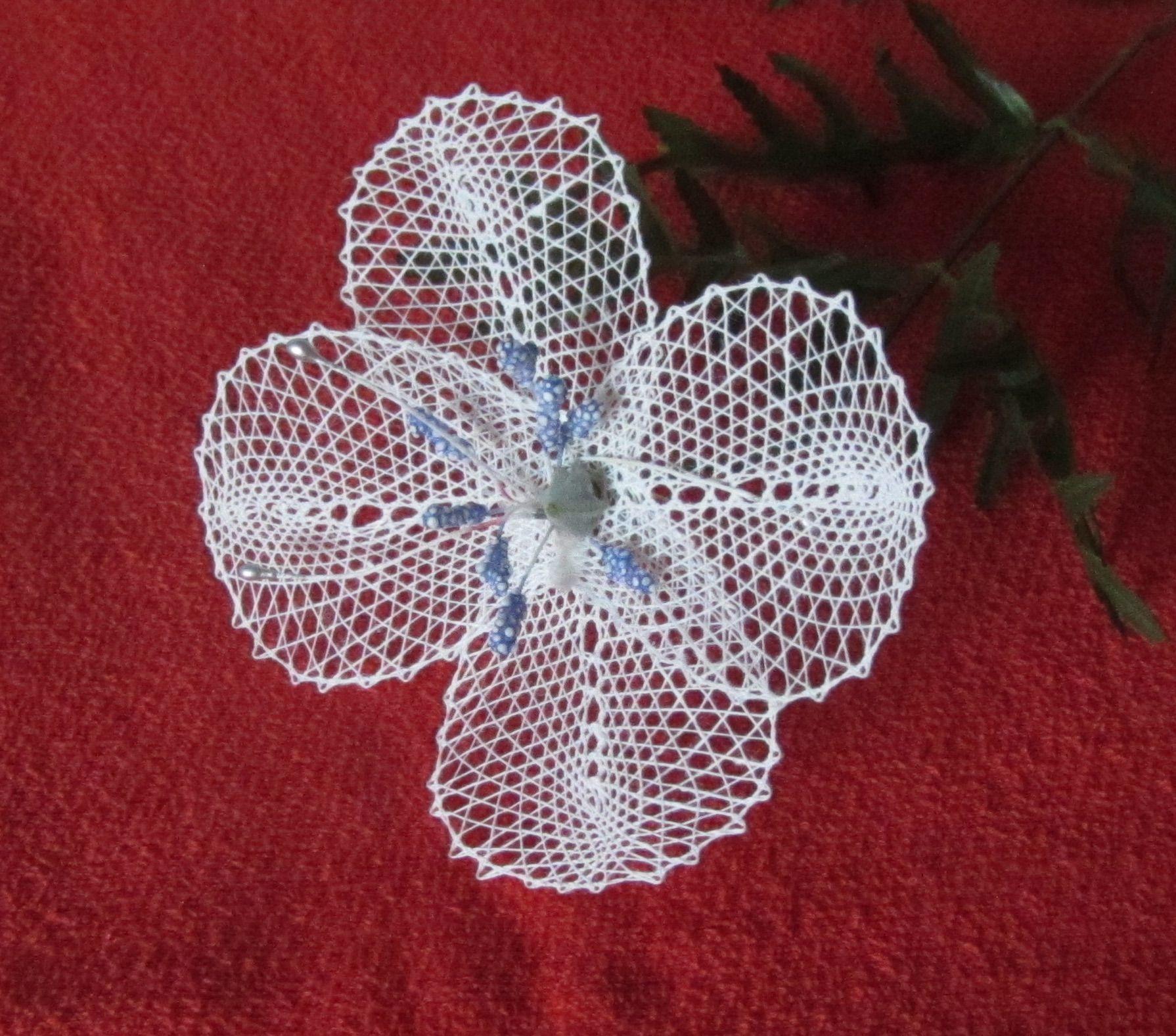 sinivalkoinen kukka