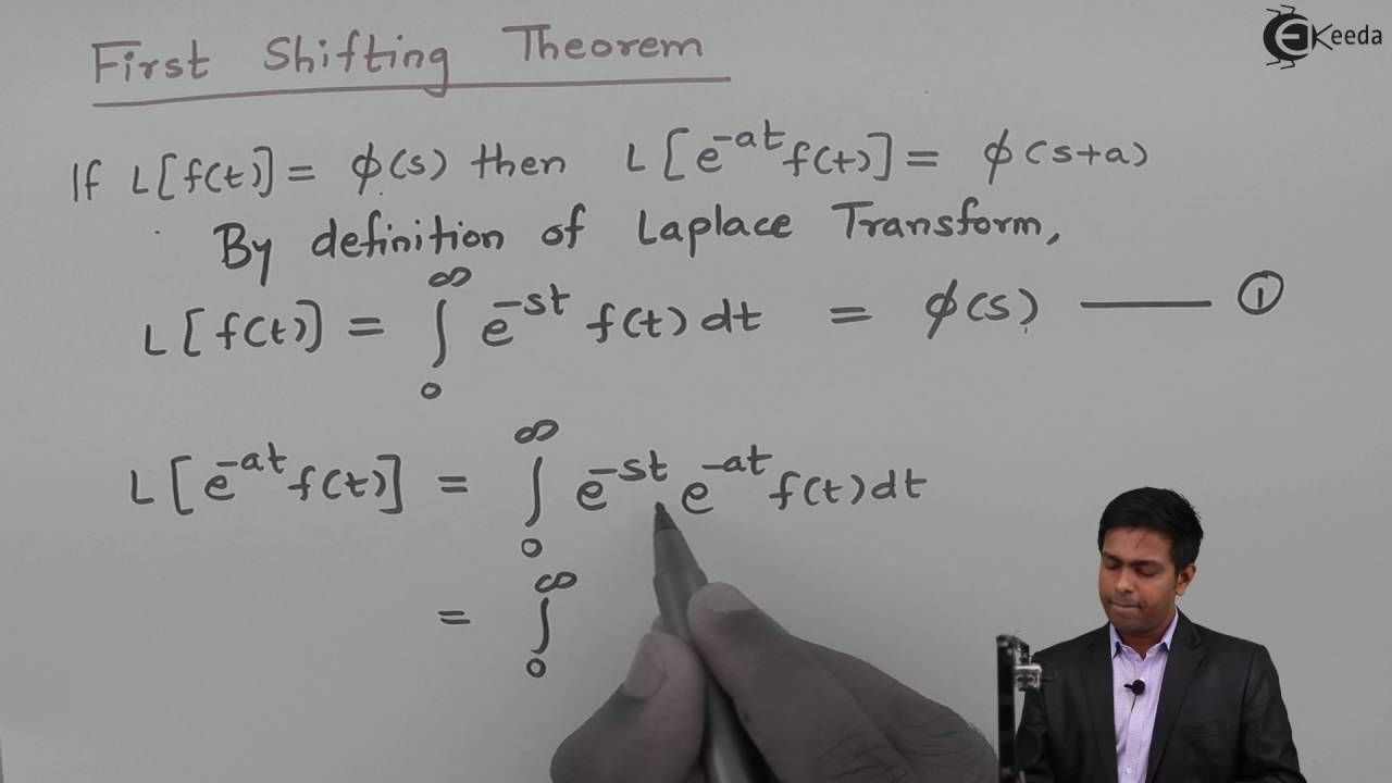 Learn Laplace Transform Online First Shifting Theorem Ekeeda Com Laplace Transform Laplace Theorems