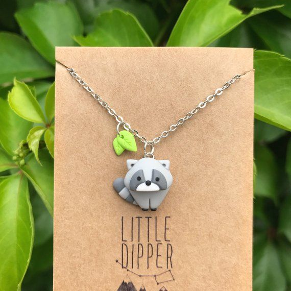 Photo of Cute Raccoon Necklace
