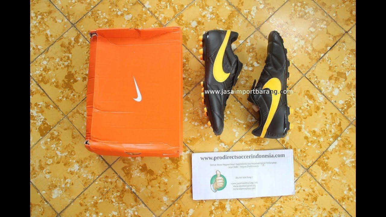 Sepatu Bola The Nike Premier Ii Fg Black Laser Orange 917803 002