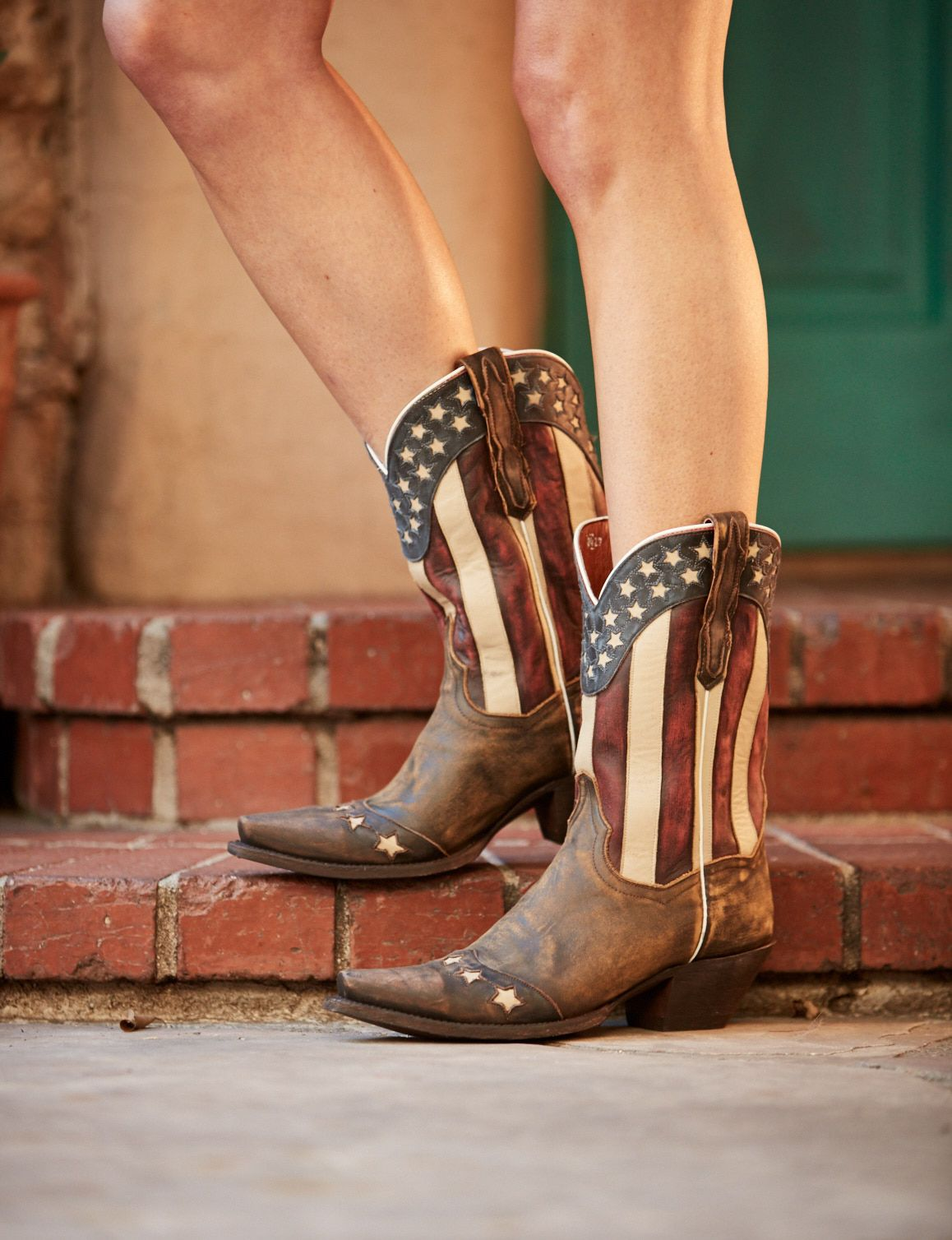 Country Concert Essential Dan Post American Flag Cowboy Boots Boots Cowgirl Boots Striped Boots