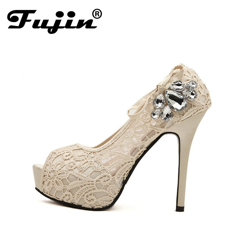 Women es Strass Kristall Peep Toe Wedding Dress Block Mid Heels Sandalen Slip auf Gladiator Sandale