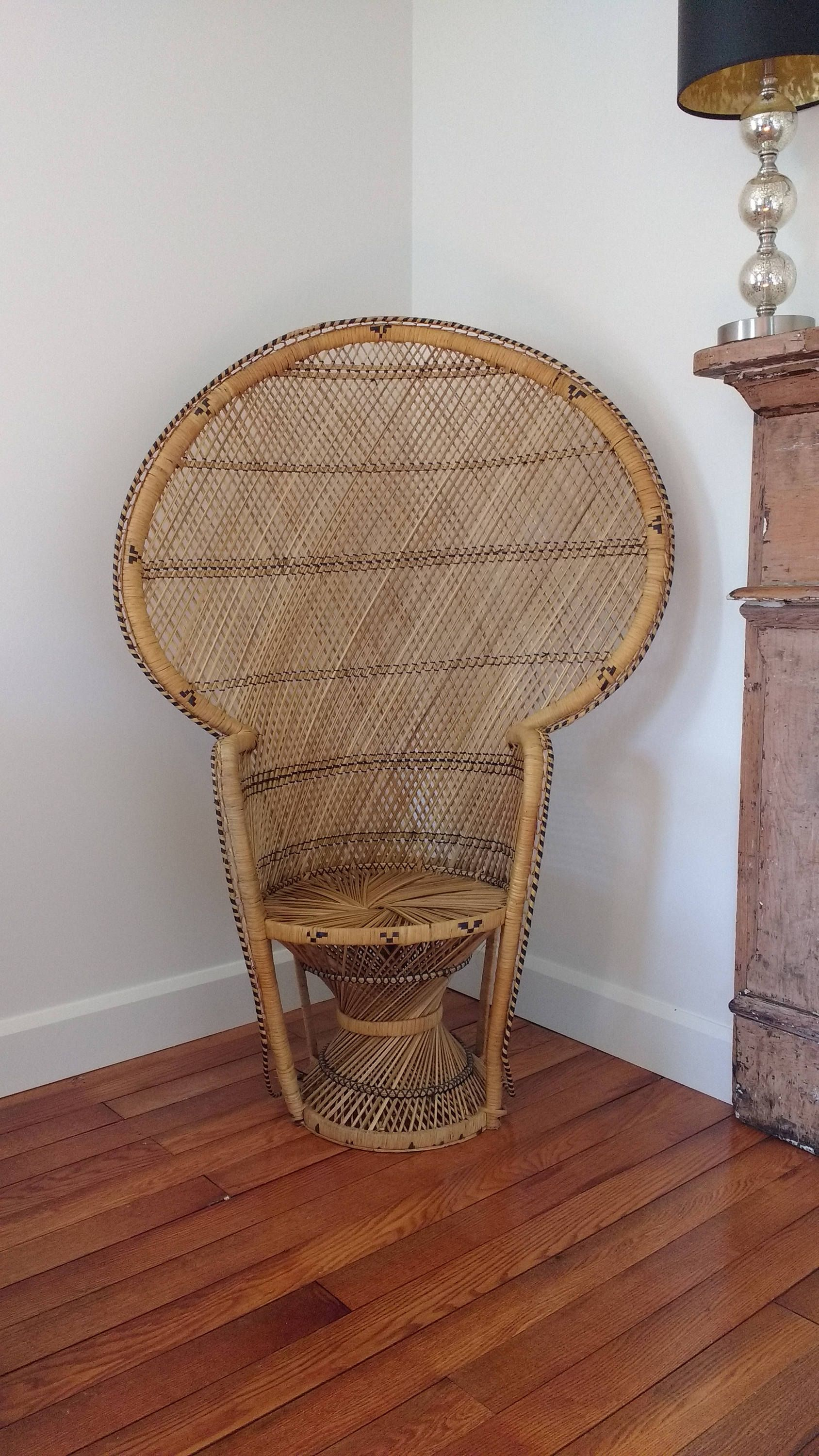 Amazing Reserve For Kendrick H Large Vintage Rattan Peacock Chair Gmtry Best Dining Table And Chair Ideas Images Gmtryco