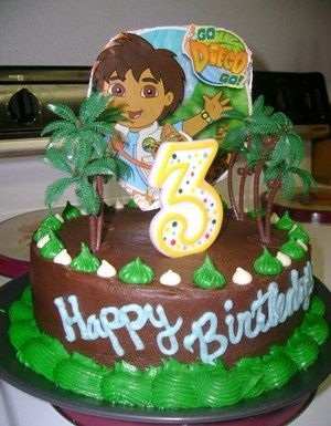Cheap and Easy Go Diego Go birthday cake | birthday party ideas ...